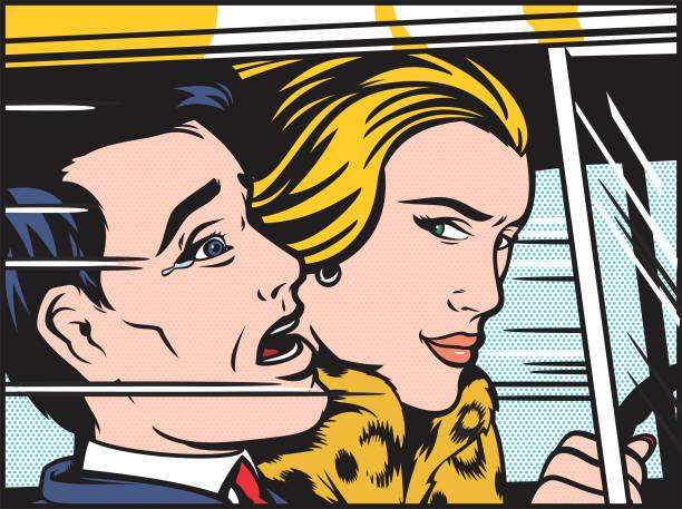 ilustrações, clipart, desenhos animados e ícones de mulher motorista - carro mulher