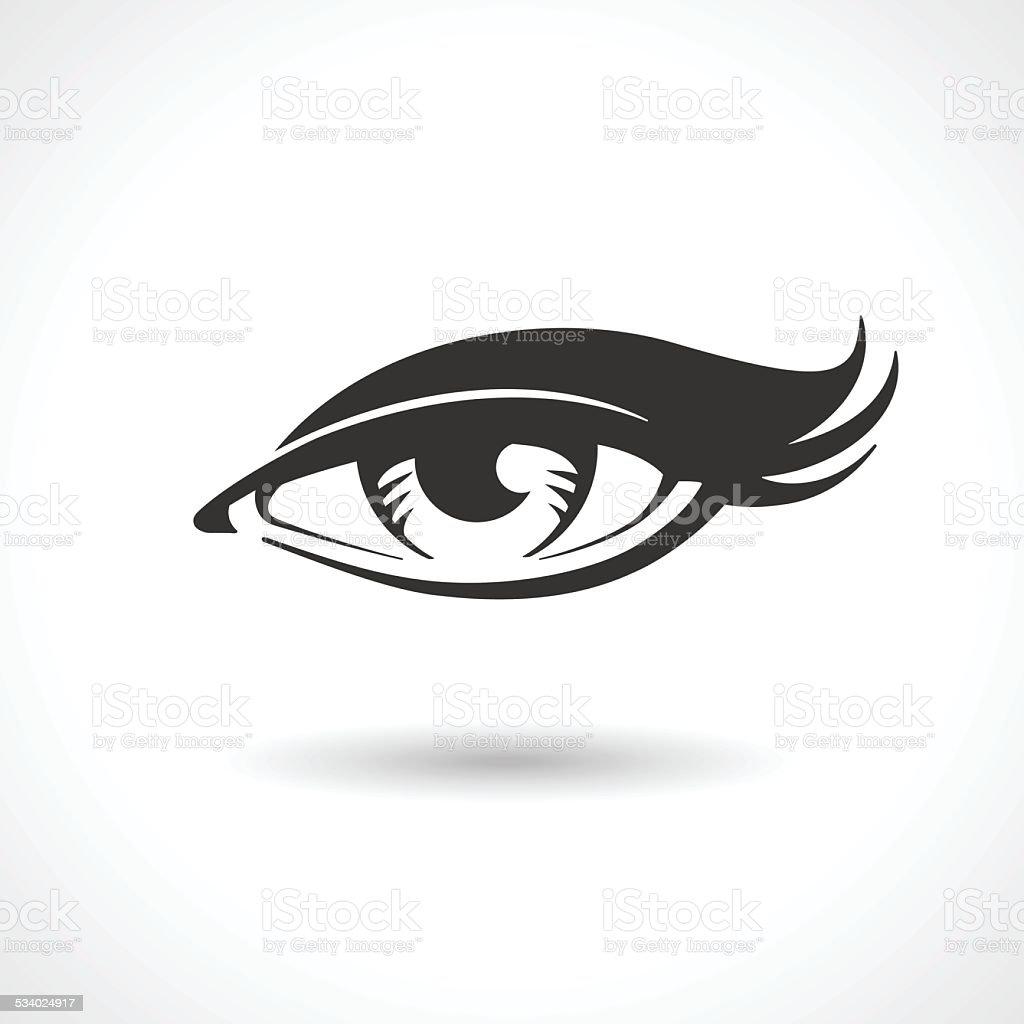 Woman eye vector drawing vector art illustration