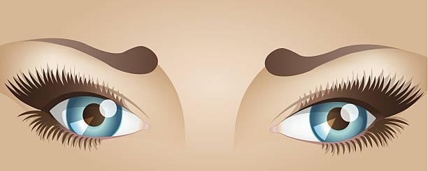 ilustraciones, imágenes clip art, dibujos animados e iconos de stock de mujer con los ojos - ojos azules