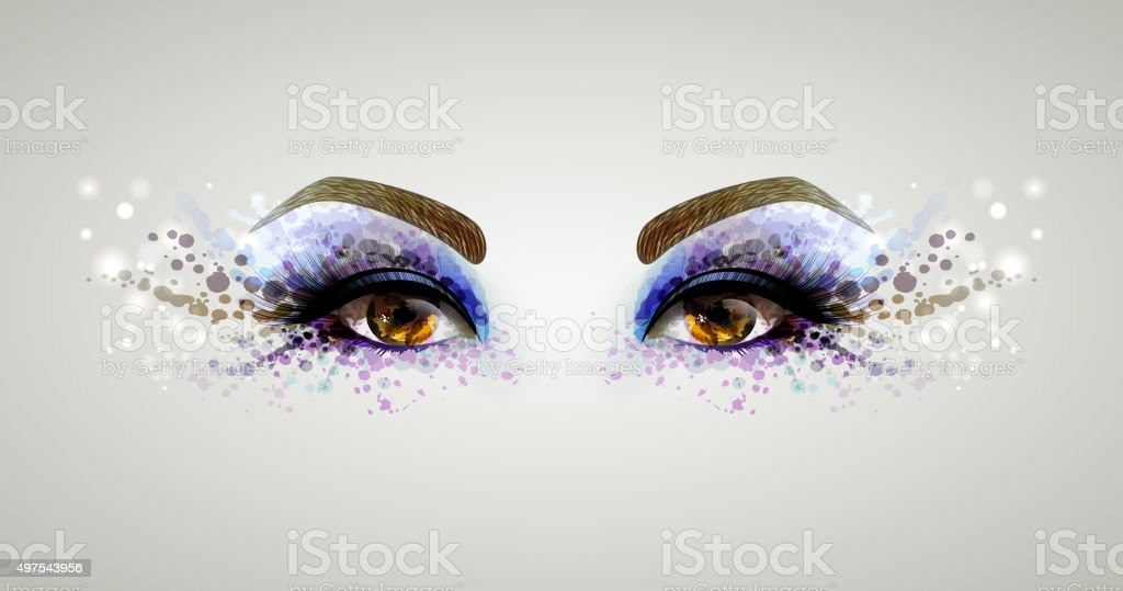 woman eyes vector art illustration