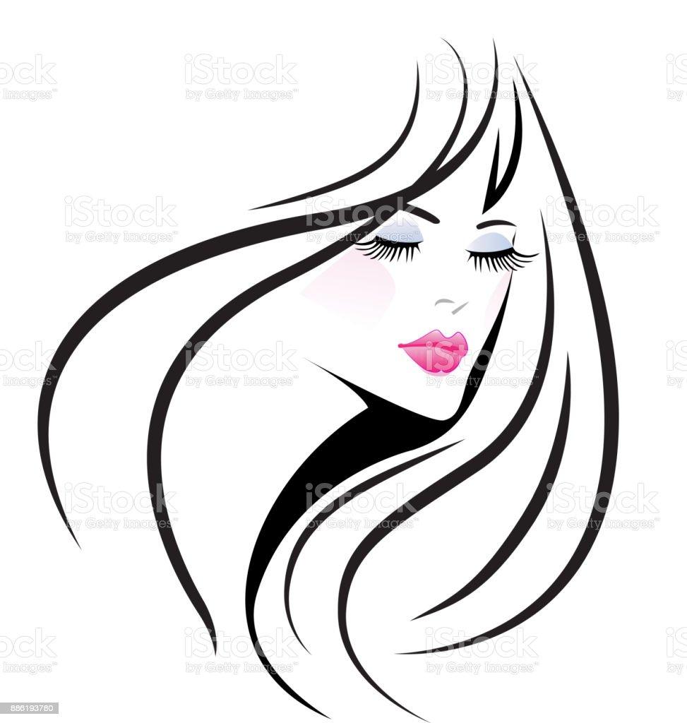 14641f17b3451 Ícone de moda mulher rosto glamour ilustração de Ícone de moda mulher rosto  glamour e mais
