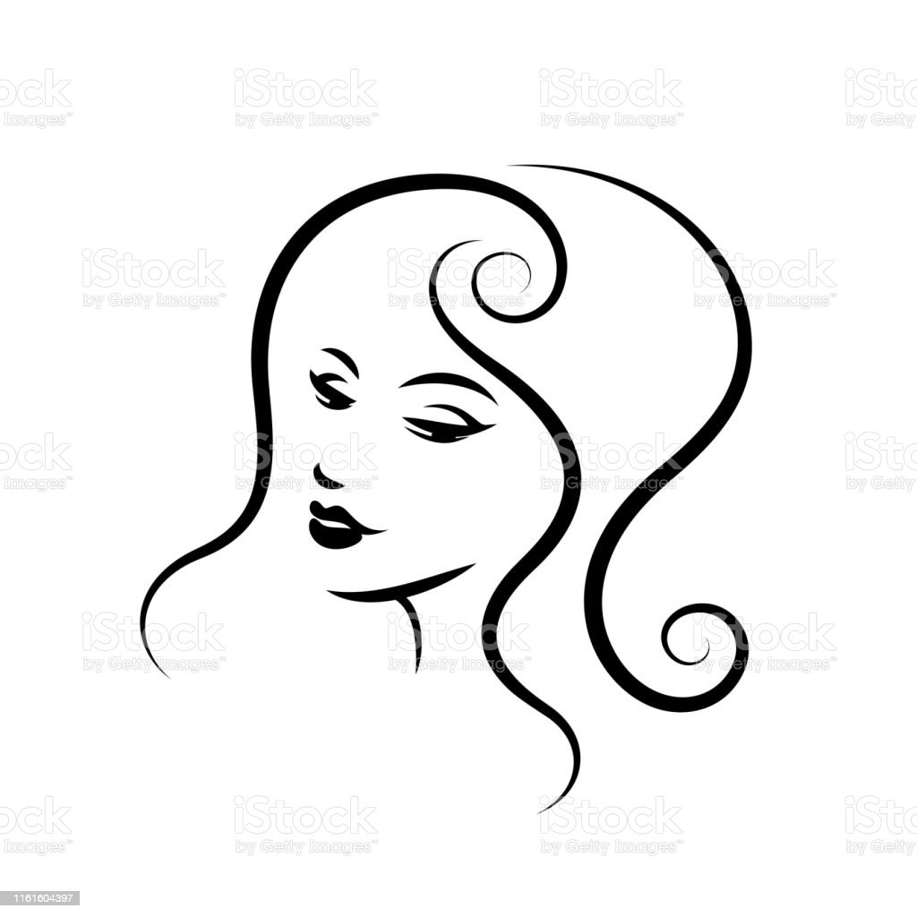 Woman face design. Vector illustration. Girl silhouette for...