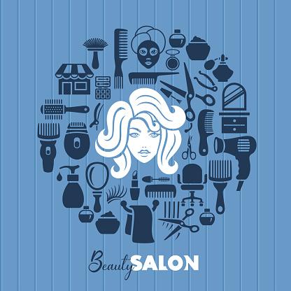 Woman face portrait. Beauty salon concept.