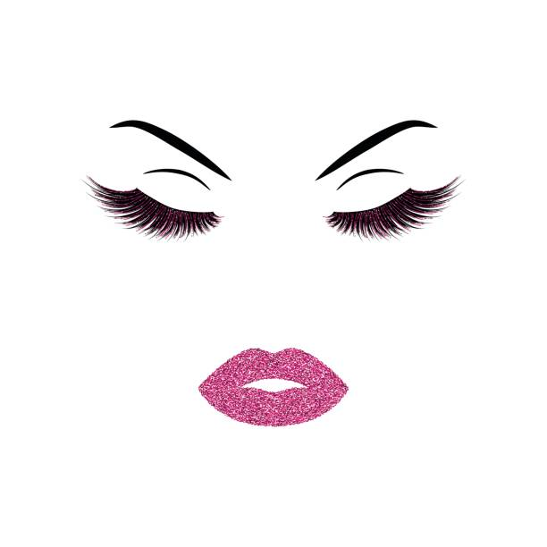bildbanksillustrationer, clip art samt tecknat material och ikoner med kvinna ansikte med utgör - makeup artist