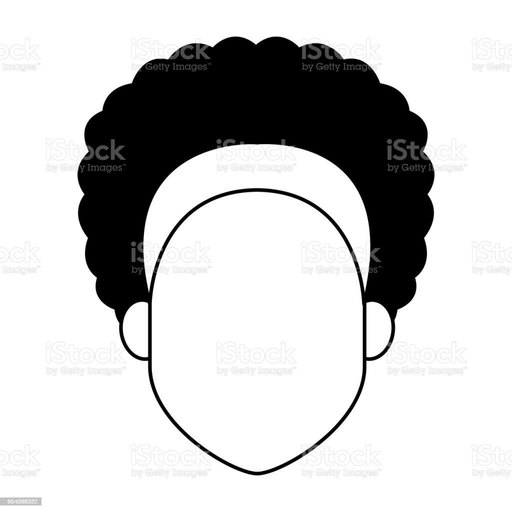 Femme Sans Visage Dessin Animé Noir Et Blanc Vecteurs Libres