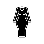 Woman fitted dress icon. Element of clothes for mobile concept and web apps icon. Glyph, flat icon for website design and development, app development