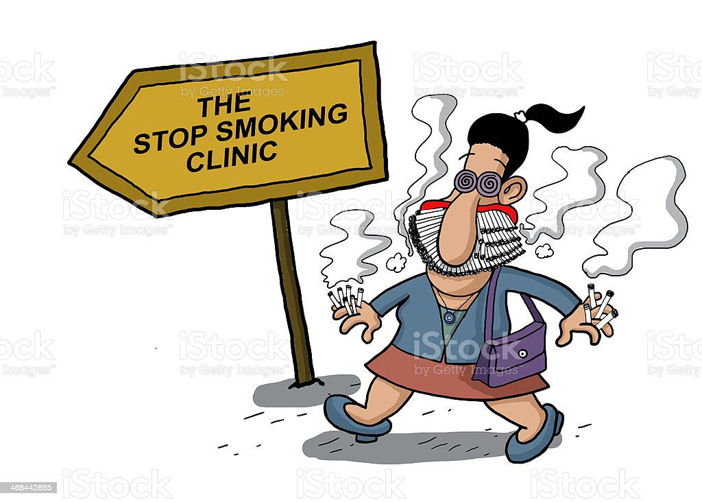 Woman goes to anti smoking clinic royalty-free woman goes to anti smoking clinic stock vector art & more images of abuse