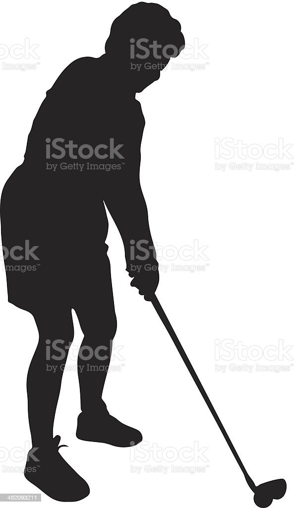Woman Golfing Silhouette Stock Vector Art More Images Of Adult
