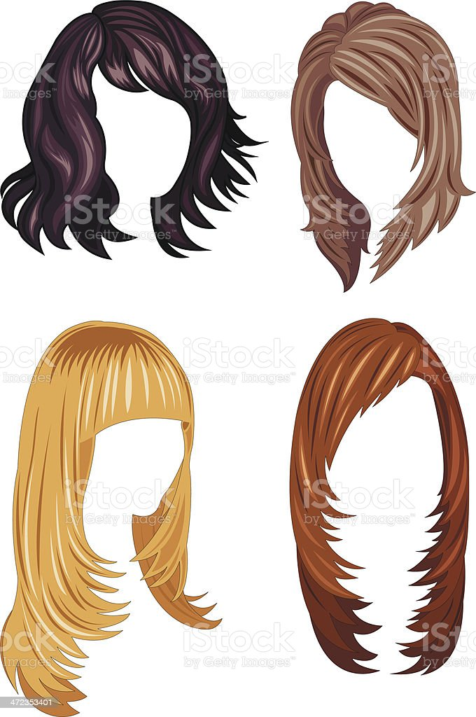 woman hair royalty-free woman hair stock vector art & more images of adult