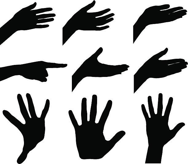 kobieta ręce - dłoń stock illustrations