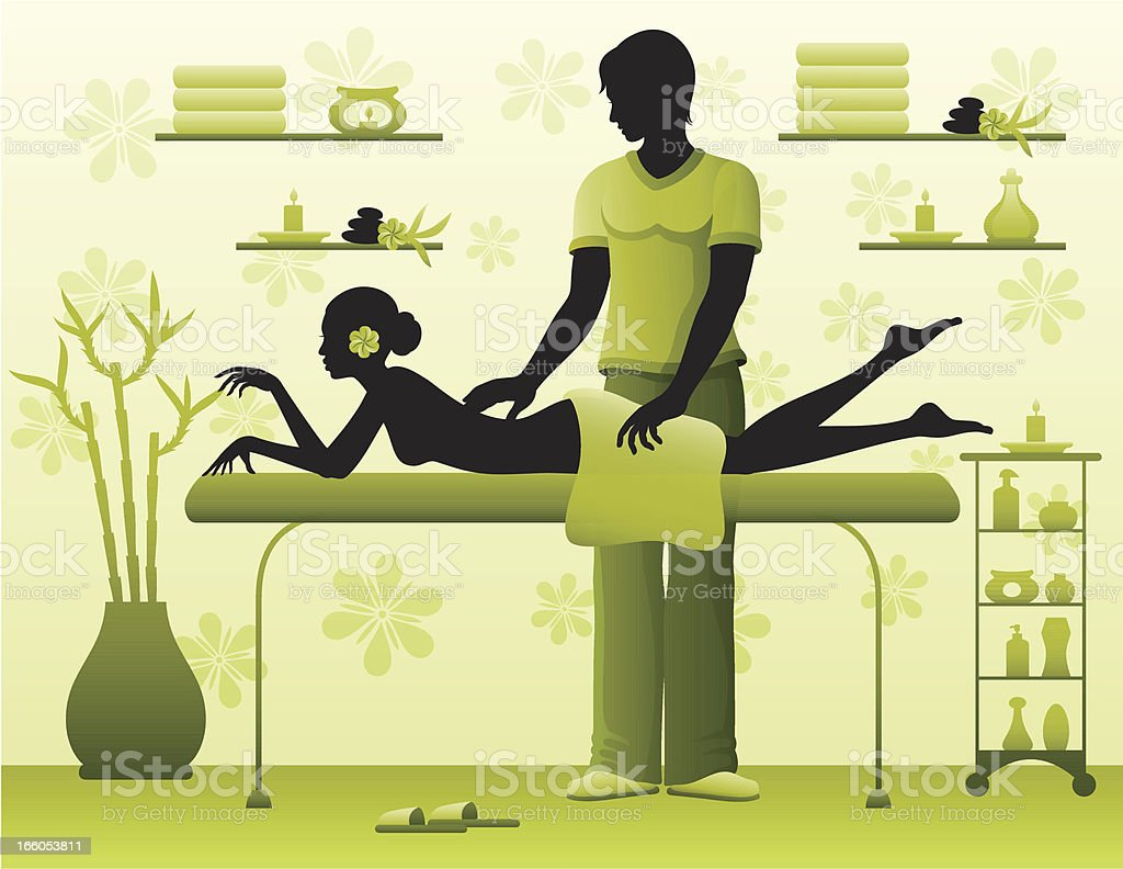 Woman Having a Massage royalty-free stock vector art