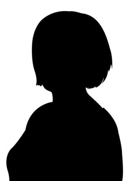 A woman head silhouette vector - Illustration vector art illustration