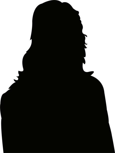 A woman head silhouette vector vector art illustration