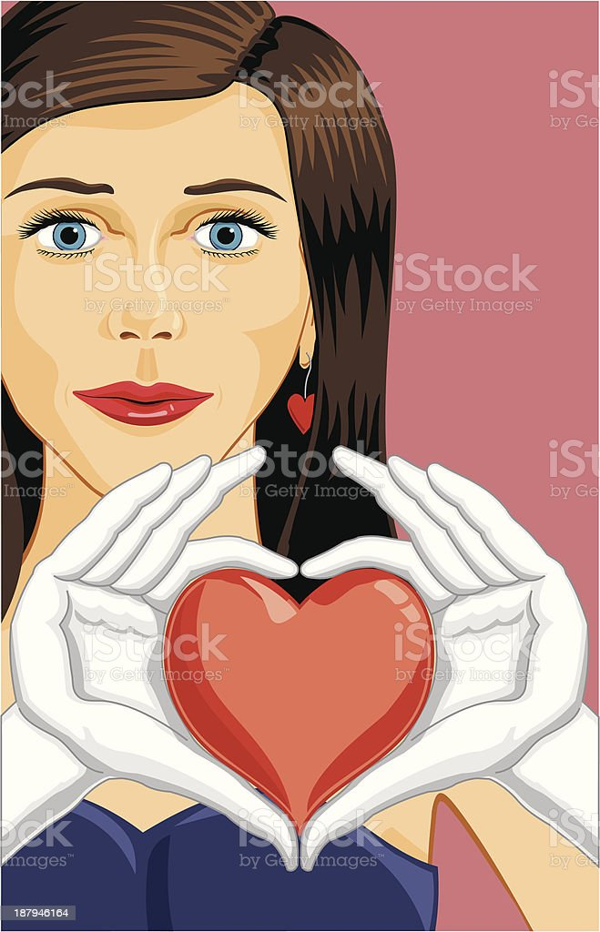 Woman Heart Signing, Forming a Heart with White Glove Hands royalty-free woman heart signing forming a heart with white glove hands stock vector art & more images of adult