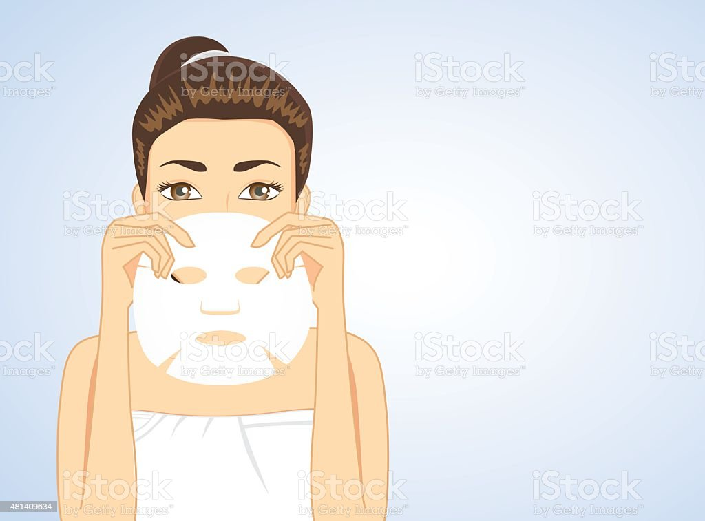 Woman hiding face backside facial vector art illustration