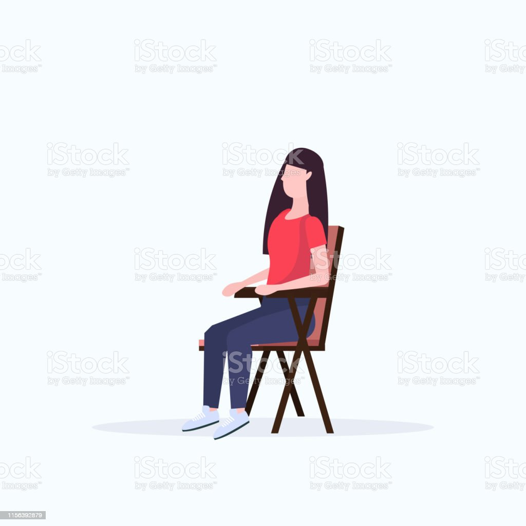 Phenomenal Woman Hiker Sitting In Folding Chair Hiking Camping Concept Ncnpc Chair Design For Home Ncnpcorg