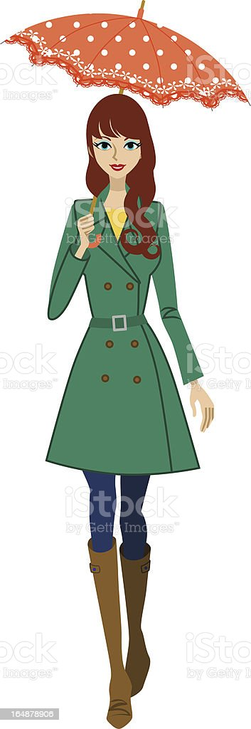 royalty free trench coat woman clip art vector images rh istockphoto com  clipart for women's wear