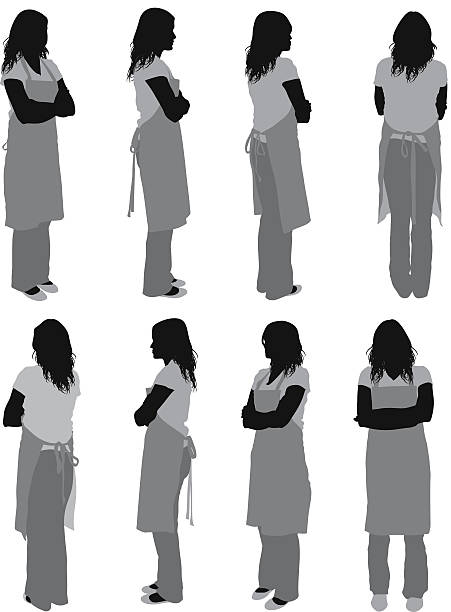 Woman in apron Woman in apronhttp://www.twodozendesign.info/i/1.png apron isolated stock illustrations