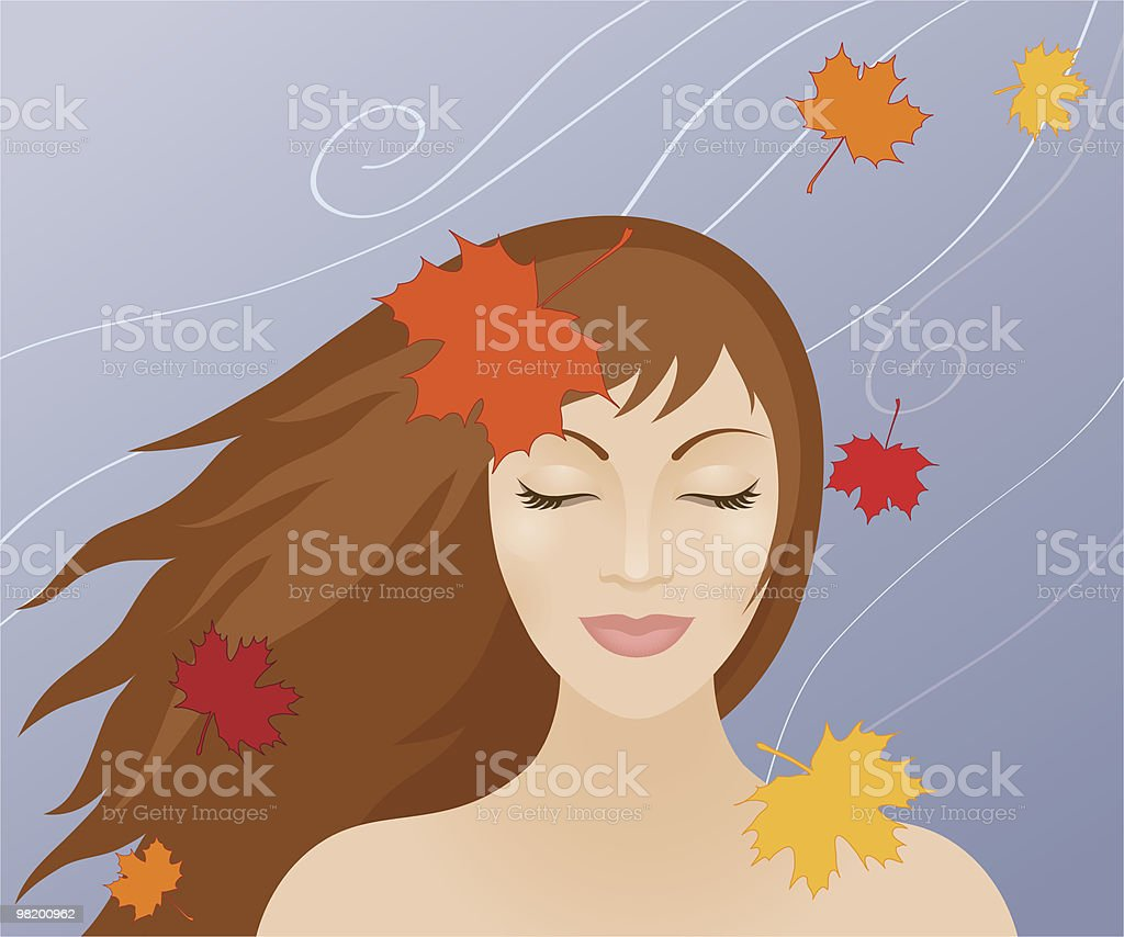 Woman in autumn royalty-free woman in autumn stock vector art & more images of adult
