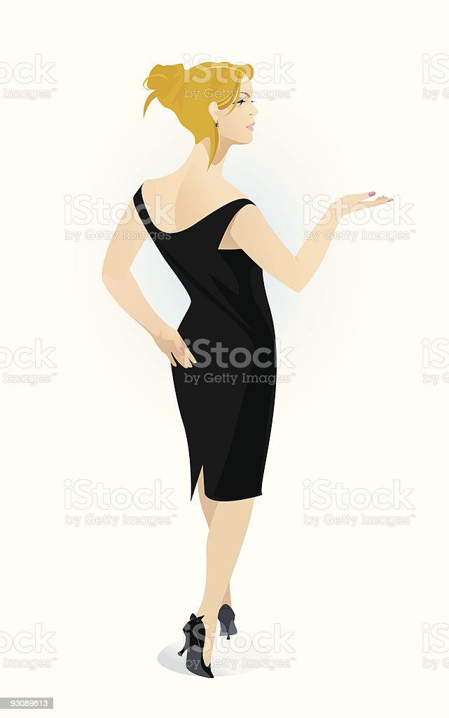 Woman in Black royalty-free stock vector art