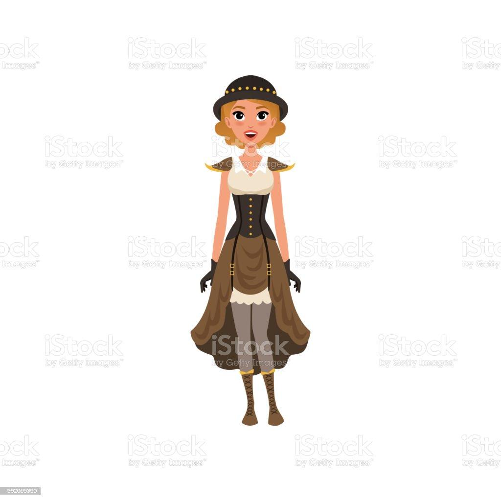 Mädchen In Ausgefallenen Kleidung Junges Im Frau Steampunk QBWEdxoerC