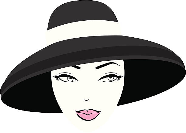 woman in hat - 1940s style stock illustrations, clip art, cartoons, & icons
