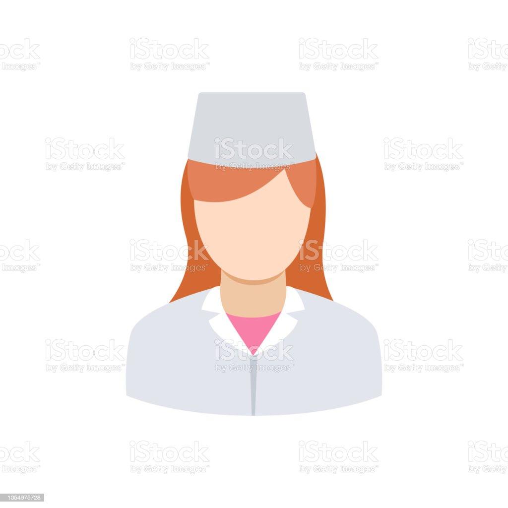 Frau in medizinischen uniform – Vektorgrafik