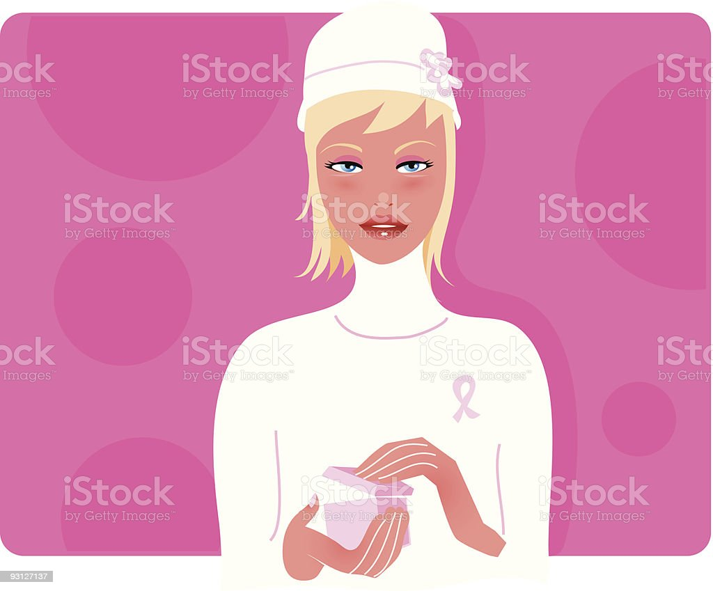 Woman in pink royalty-free stock vector art