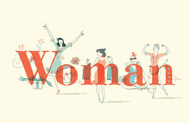 woman issues - tylko kobiety stock illustrations