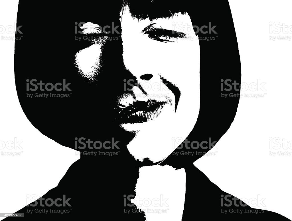 Woman, Itchy Nose and Allergies vector art illustration