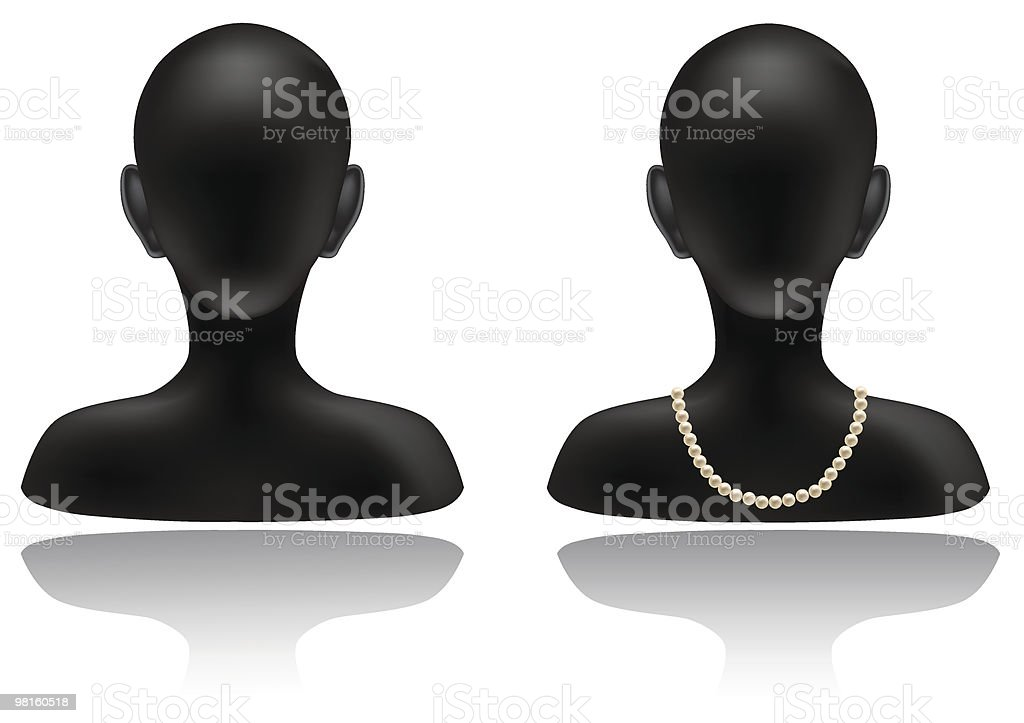 Woman jewelry icon royalty-free stock vector art