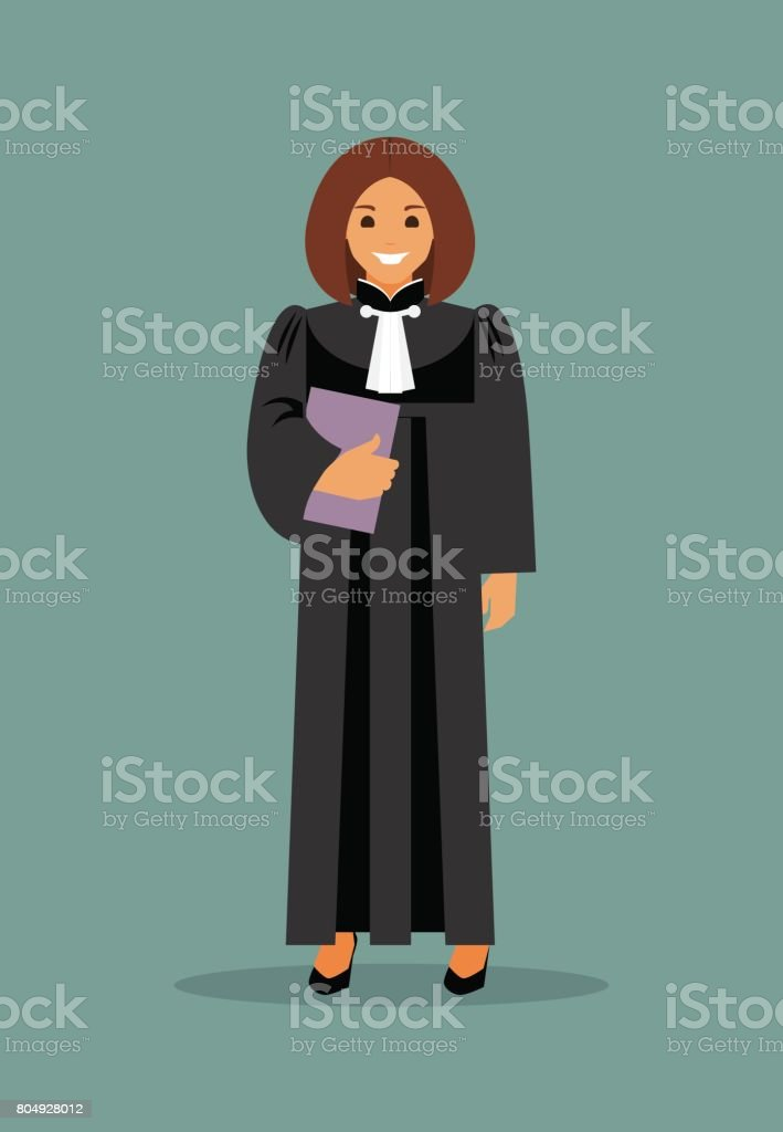 woman judge - illustrazione arte vettoriale