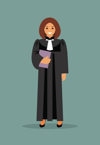 woman judge - lawyer stock illustrations, clip art, cartoons, & icons