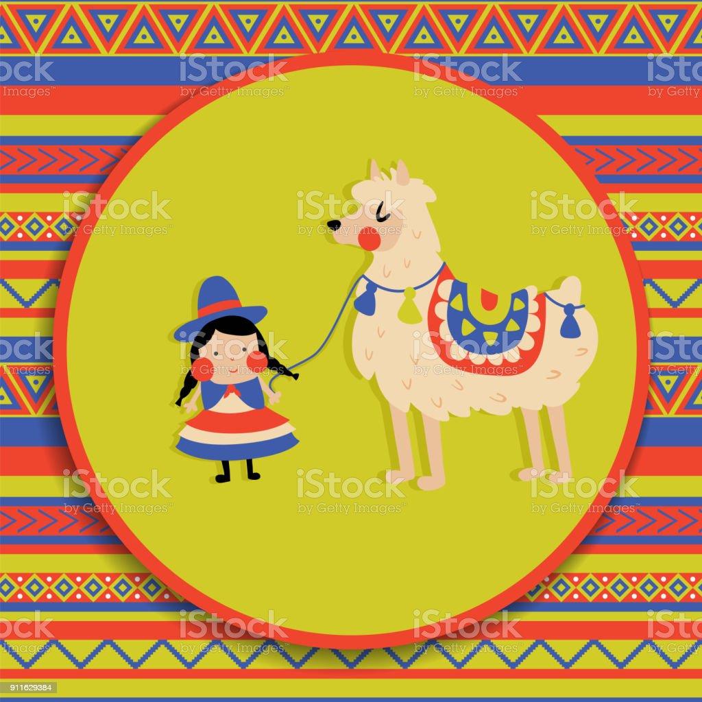 lama de la mujer a.c. - ilustración de arte vectorial