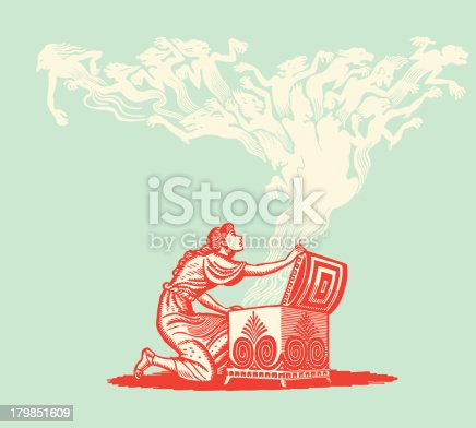 istock Woman Letting Demons out of a Chest 179851609