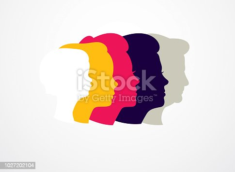 Woman life age years concept, the time of life, periods and cycle of life, growing old, maturation and aging, one generation and age categories. Vector simple classic icon design.