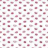 Woman lips seamless pattern