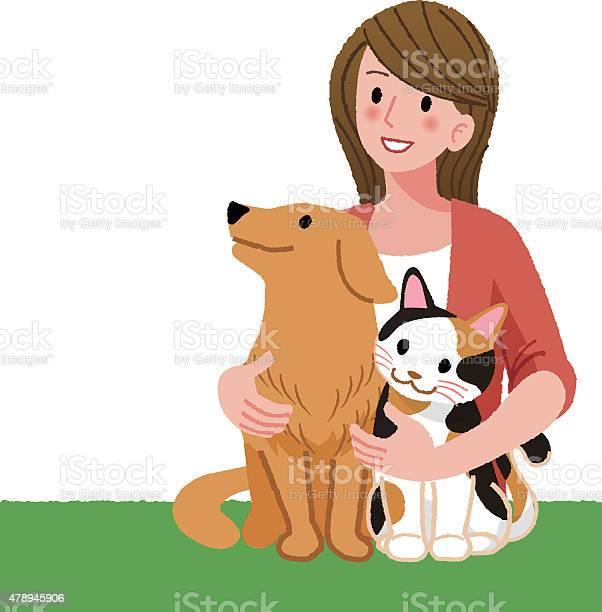 Woman looking up with furry friends vector id478945906?b=1&k=6&m=478945906&s=612x612&h=4wnrdjoflolkpye6a4uflgzqjrefykposwl4pbdwztw=