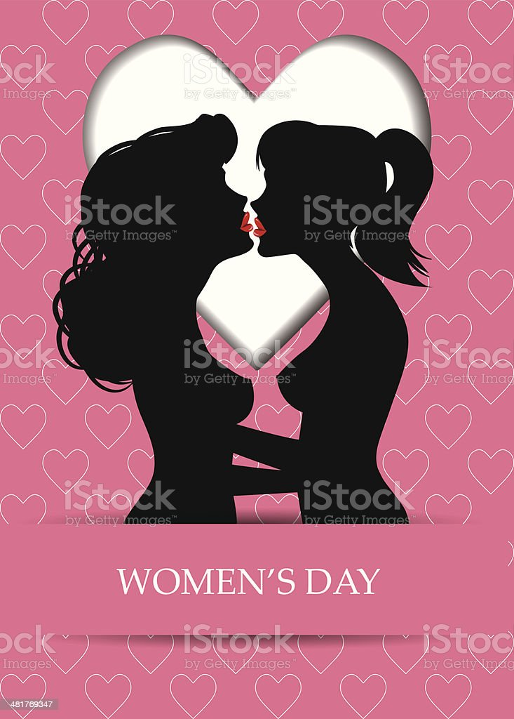 Mujer Amor Lesbianas Par Ilustración Vectorial - Arte vectorial de ...