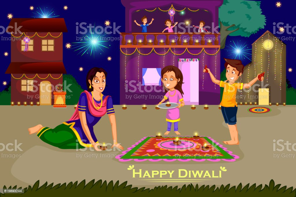 royalty free diwali family clip art  vector images Free Clip Art Fireworks Celebration fireworks images clipart free