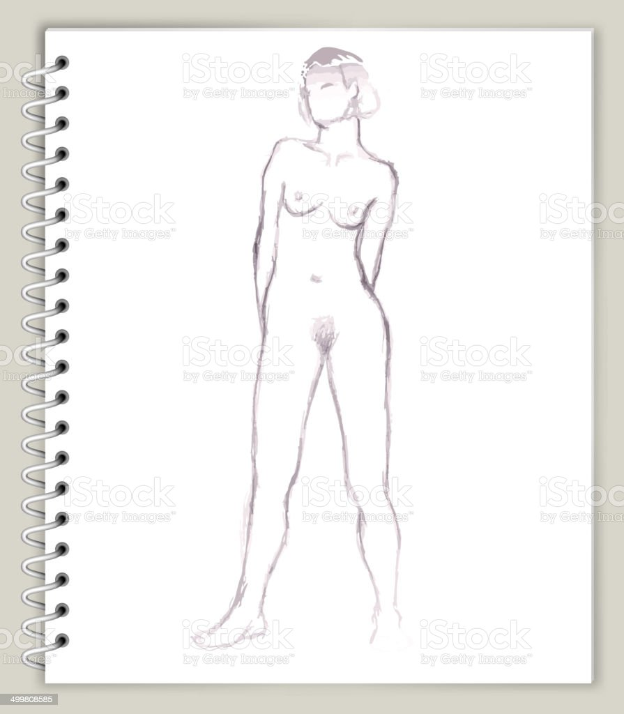 Mujer Modelo Ilustración De Arte Sketcbook Arte Vectorial Libre De ...