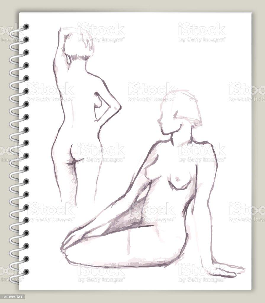 Ilustración de Mujer Modelo Ilustración De Arte Sketcbook Arte ...