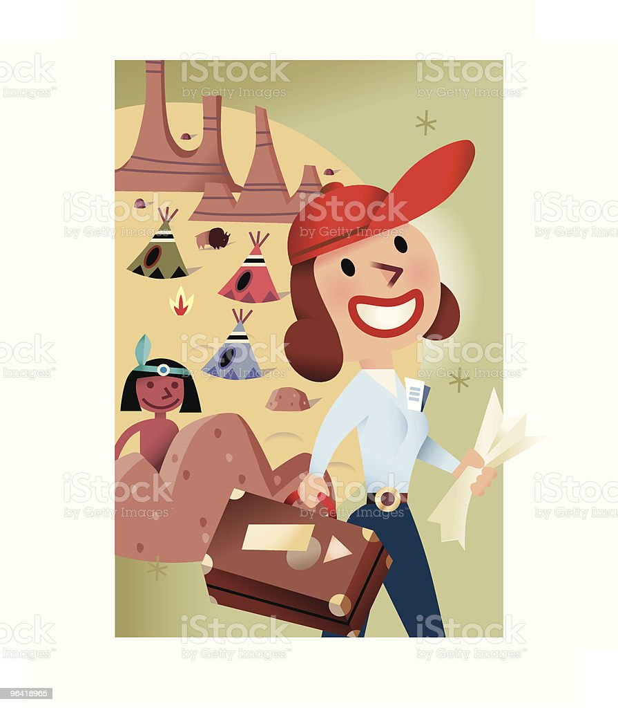 Woman on Vacation royalty-free stock vector art