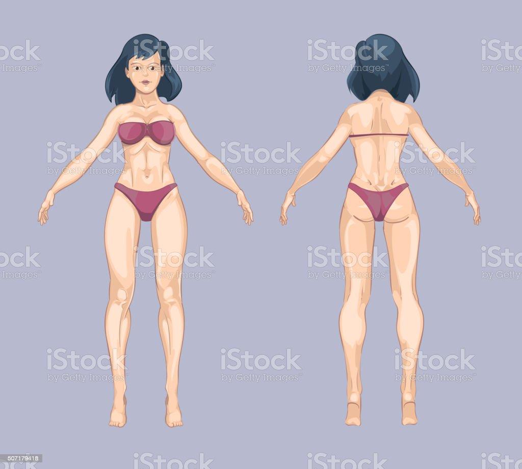 Ilustración de Mujer De Historieta O Cuerpo Femenino De Estilo Parte ...