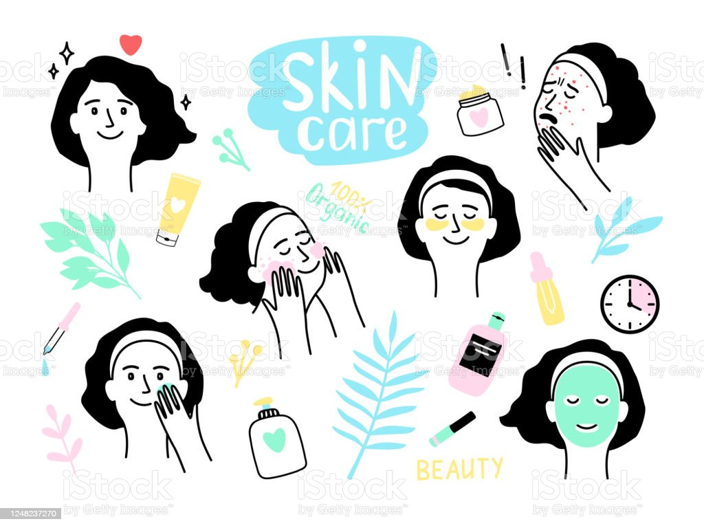 Woman Organic Skin Care Stock Illustration Download Image Now Istock
