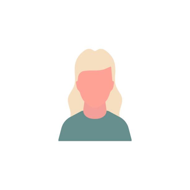illustrazioni stock, clip art, cartoni animati e icone di tendenza di woman people portraite concept icon - portraite woman