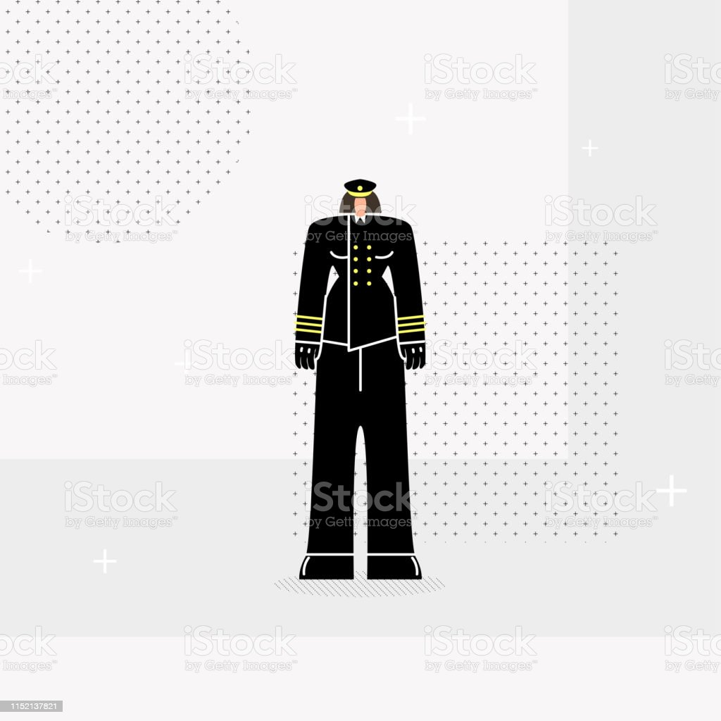 Police Woman Officer Black Hat Adults