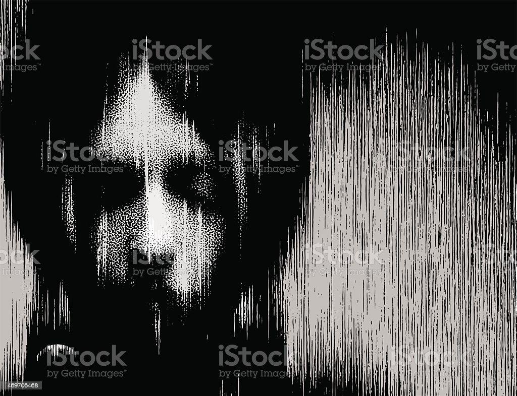 Woman Portrait Ghost vector art illustration