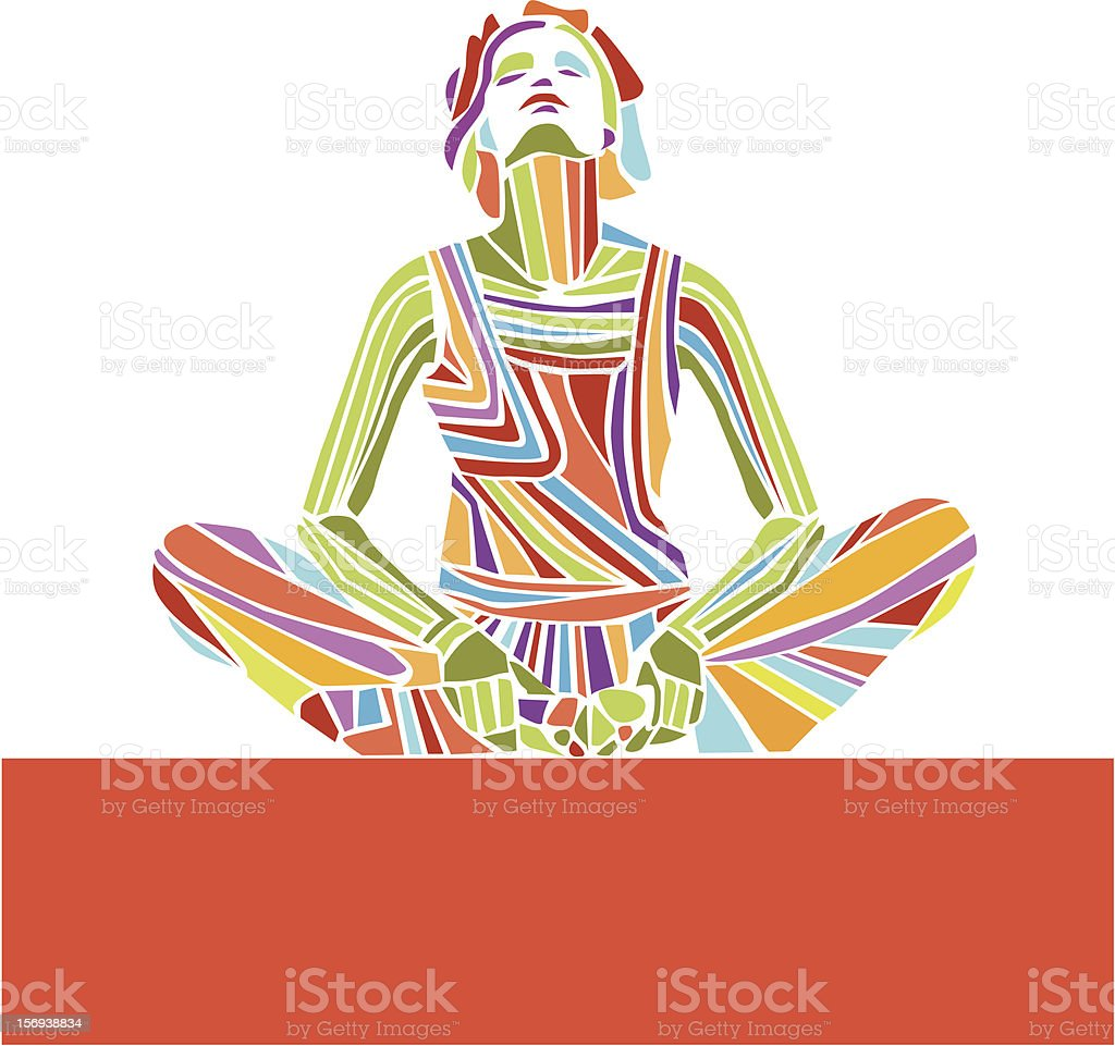 Woman practicing yoga royalty-free woman practicing yoga stock vector art & more images of adult