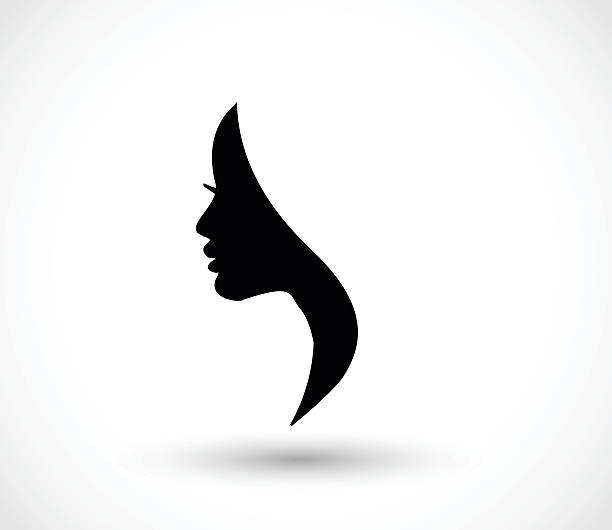 woman profile beauty illustration vector - female faces stock illustrations, clip art, cartoons, & icons